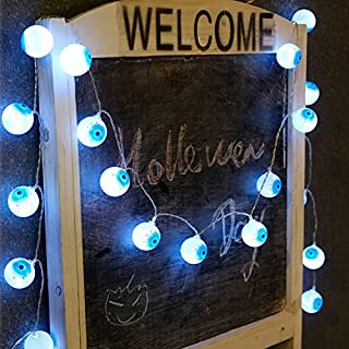 AntEuro Halloween Solar String Lights, 10 LED Solar Power Eyes Fairy String Light/Starry Light for Outdoor,Home,Patio,Garden,Thanksgiving,Christmas (Cold White)