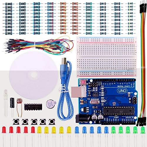 Wenquan,UNO Project Basic Starter Kit mit Tutorial und UNO R3 für Arduino(Color:Multi)