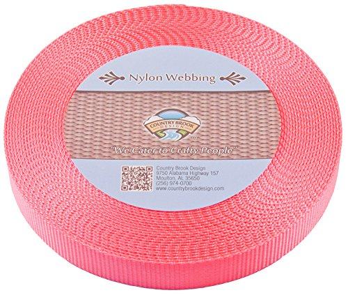 Country Brook designâ ® 2,5cm Pink Nylon Schwere Gurtband, 10Meter (7 8 Nylon-gurtband)