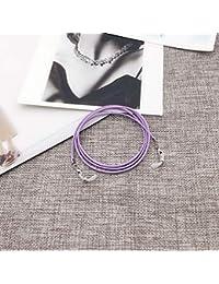 Gafas de lectura, cordón, cadena para gafas, cuerda de cera, cordón, 1 pieza