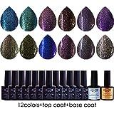 ( Dream Gel) - UV nail polish black nail kit set #12hybt-005nd