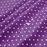 Stoff Baumwolle Acryl Punkte klein lila weiß Regenjacke
