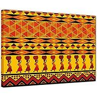 """Impression d'art """"Conception de l'Afrique"""" Image sur toile - 120x90 cm 1 pieces - Toile photos - Images en tant qu'impression de toile - Murale de Bilderdepot24"""