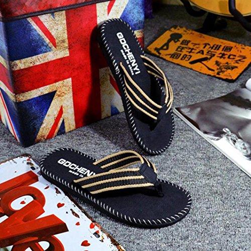 OHQ Tongs Homme en Ligne Rouge Kaki Hommes Été Rayures Chaussures Sandales Pantoufles Femmes Chaudes Montantes Isotoner Lapin Fantaisie Antiderapentes Chat Noir