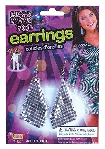 Forum Novelties 74520 Diamant Boucles d'oreilles, Argent, Taille Unique