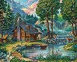 Vermont Christmas Company Casa Junto al Lago Rompecabezas de 1000 Piezas (Jigsaw Puzzle)