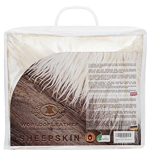 Marrón alfombra De Piel De Oveja Genuina, Mejor Calidad (Medio: 120-130 cm)