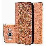 für Smartphone Samsung Galaxy J5 2016 / J510 Hülle, Leder Tasche für Samsung Galaxy J5 2016 / J510 (5,2 Zoll) Flip Cover Handyhülle Bookstyle mit Magnet Kartenfächer Standfunktion (4)