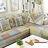 Sofa cushions,cotton sofa towel,anti-slip european living room combination leather cushion-A 90x70cm(35x28inch)