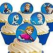 Cakeshop 12 x PRE-CUT Disney Frozen Edible Cake Toppers