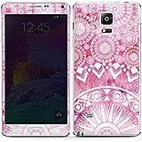 Samsung Galaxy Note 4 Case Skin Sticker aus Vinyl-Folie Aufkleber Mandala Pink Vintage