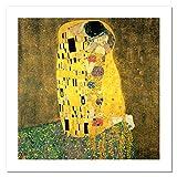 Niik Stampa Il Bacio di Gustav Klimt 60 x 60 cm Falso d'autore su Tela
