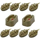 Croch Method Feeder Set Inline System zum Karpfenangeln 15g, 20g, 25g, 30g, 35g, 40g, 50g, 60g
