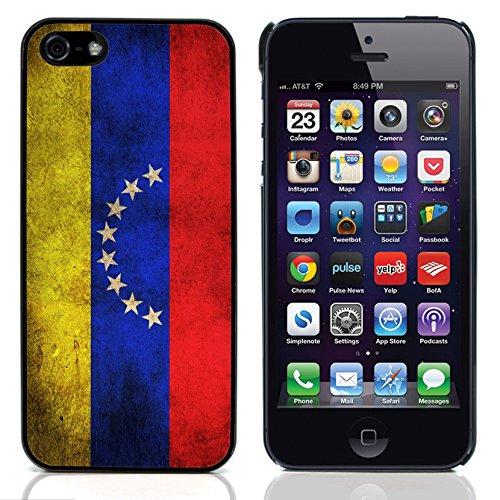Graphic4You Vintage Uralt Flagge Von Dominikanische Republik Design Harte Hülle Case Tasche Schutzhülle für Apple iPhone 5 und 5S Venezuela Venezolanisch