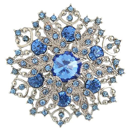 EVER FAITH Elegante Cluster fiore di cristallo