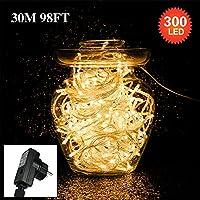 Tersely 300 lumières de guirlande de 30M LED,lumières de guirlande d'intérieurs / extérieurs lacrymogènes pour l'arbre de noël Évènements de mariage de jardin (8 modes d'éclairage, fonction de mémoire) ( Plug UE)