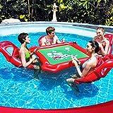 QYWSJ Fila Flotante de Agua Al Aire Libre, Juguetes Inflables de Agua, Mesas de Ajedrez de Mesa Mahjong, Anillos de Natación para Adultos, Tour Holiday Entertainment Toys