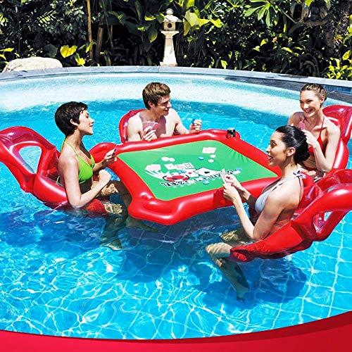 Qywsj riga di galleggiamento all'aperto dell'acqua, giocattoli gonfiabili dell'acqua, tabelle scacchi tabella mahjong, supporti per anelli nuoto adulti, giocattoli intrattenimento feste