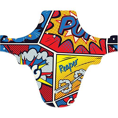 MTB Fender, Radfahren Mudguard, Comic Art Stil. Passt 66cm 69,8cm Mountainbikes Wachen, Yellow, Red & Blue