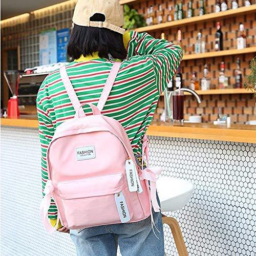 YKDY Tasche Multifunktionsleiste Bogen Doppel Schultern Schultasche Reiserucksack Tasche (grau) (Farbe : Rosa) (Bogen-schulter-tasche)