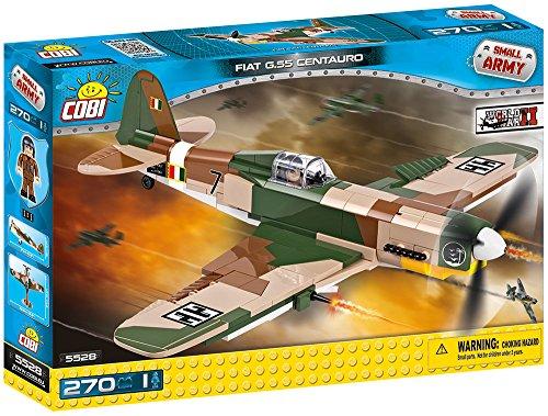 Cobi 5528 Spielzeug FIAT G.55 Centauro, Grün, Schwarz, Braun, Beige, Weiß