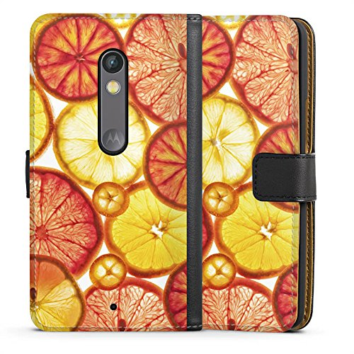 DeinDesign Lenovo Moto X Play Tasche Hülle Flip Case Zitrone Lemon Orange
