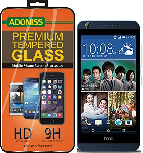 Adoniss Premium Tempered Glass Screen Protector For HTC Desire 626 G Dual Sim (Curved Edges)