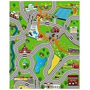 enfants tapis de jeu g ant ville village ferme route voitures jeux et jouets. Black Bedroom Furniture Sets. Home Design Ideas