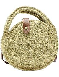 c02f4b30b MISEMIYA - Bolsos rafia para mujer bolso shopper bolso de mano SR-ZR812(22