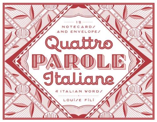 Quattro Parole Italiane Notecards /Anglais