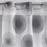 Douceur D'Intérieur  - 1623584, Gardine Mit Osen , 140 X 240 Cm , Hypnotic , Voile Bedruckt Transferdruck , Weiss