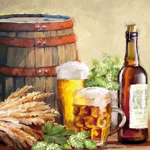 20 Serviette Grillen Gartenparty Essen Trinken Bier Hopfen