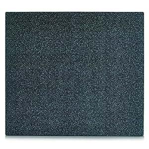 Zeller 26281 Grant Plaque de recouvrement Verre Gris 56 x 50 x 0,8 cm