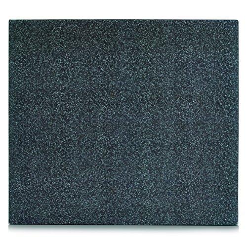 Zeller 26281 - paraschizzi per cucina con effetto granito, in vetro, colore: antracite