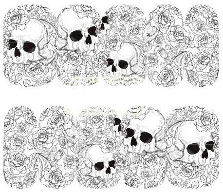 gel Aufkleber Dekoration Wasser Transfer Halloween - A1103 Nail Sticker Tattoo - FashionLife (Halloween Nail Transfers)