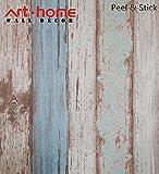 Tapete Kontakt Papier 31.6 Quadratmeter Wandverkleidung Vinyl Blau Holz Dekorative selbstklebende schälen und Stick Moistureproof wasserdichtes hängendes Papier für Wanddekoration (0.53 * 5.65m)