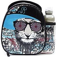 SMASH 700ml Slimline Fashn Drink Flasche, BPA-frei–Multi Farbe, Textil, Black Hypno Tiger, 10.2 x 27.7 x 27.1 cm