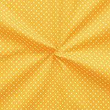 STOFFKONTOR Baumwollstoff Tupfen Klein Stoff Meterware Gelb