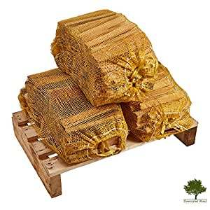 Kindling Wood - Kiln Dried, Natural Firelighters Ideal for Fire Starting, 15kg of Nets, Premium Quality Ready to Light - Fast Delivery