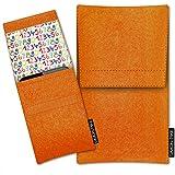 SIMON PIKE Samsung Galaxy S3 mini Filztasche Case Hülle Sidney in orange 12, passgenau maßgefertigte Filz Schutzhülle aus echtem Natur Wollfilz, dünne Tasche im schlanken Slim Fit Design für das Galaxy S3 mini