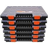 Set van 6 sorteerdorzen met naar wens verdeelbare scheidingsvakken, voor gereedschap en andere kleine onderdelen, circa 399 x