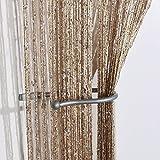 Jazz Glitter String Curtain Panel (Latte)