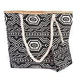 TUOTUO Damen Canvas Tasche Umhängetasche Tasche Urlaub Strand Bag Shopper Schultertasche-TypD