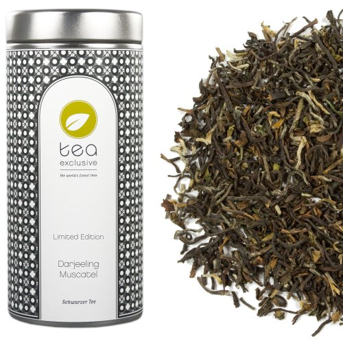 tea exclusive – Darjeeling Muscatel, Schwarzer Tee, Indien, Dose 80g