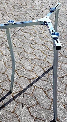 Klappbares Untergestell für Ringbrenner Gasbrenner von 35 cm bis 50 cm