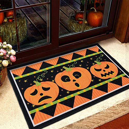 ZGXOAG Teppich Schlafzimmer Wohnzimmer Eingangstür Matte Dekoration Halloween Urlaub Matte Hauseingangstür Komfort Matte Innentür Verwenden,Black(5)-50x80cm