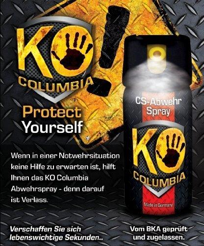 Familien Set: Original Columbia KO-CS Abwehrspray Verteidigungsspray – Made in Germany! 2x 40ml - 2