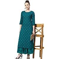 Meera Fab Women's Cotton Salwar Suit (2019MF994_Teal Blue_XX-Large)