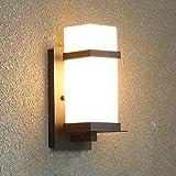 LIYAN minimalistische Wandleuchte Wandleuchte E26/E3561Außen-Wandleuchten Wasserfeste Außenhülle kreative led Außentreppe balkon Wandleuchten off road Innenhof Lampe, 13 * 32 CM