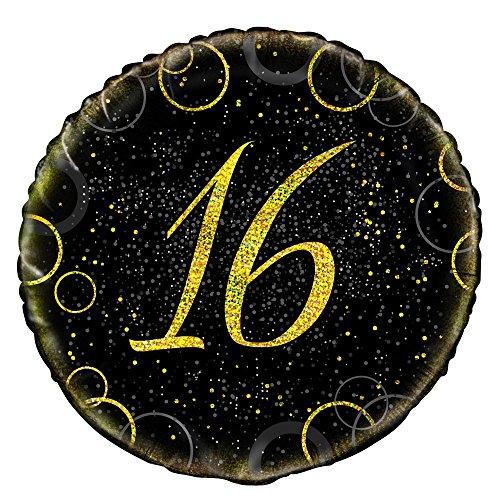 45,7cm Glitz Gold Folie zum 16. Geburtstag Ballon ()